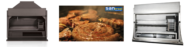 san braai stainless steel and mild steel built-in braais