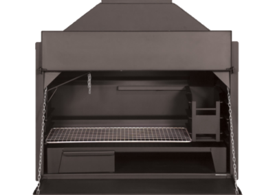 mild steel built-in braai