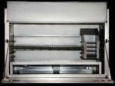 sanbraai built in stainless steel braai