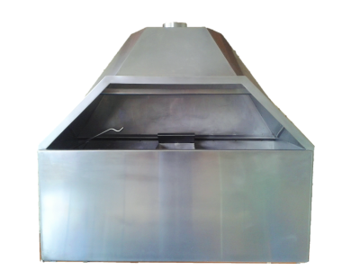 Stainless steel freestanding braai closed door