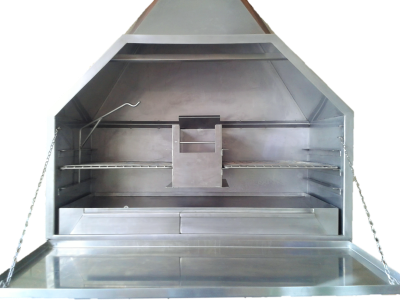 Stainless steel freestanding braai
