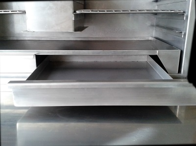 oven tray front open